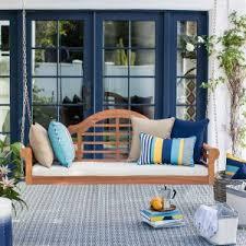 hanging porch swing porch swing a hanging bed giving a cozy