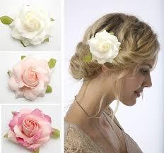 hair corsage 20px 3 5 white pink flower hair clip brooch wedding bridal