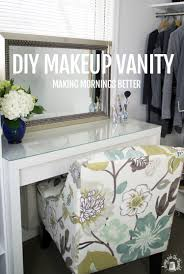 how to make vanity desk good morning makeup vanity with hair appliance caddy ikea hackers