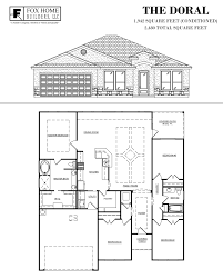 480 square feet the doral fox home builders