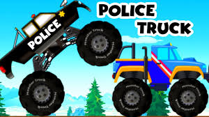 monster truck videos for toddlers police monster truck chasing cars monster truck cartoon for