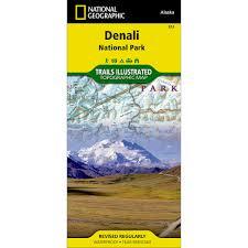Denali National Park Map 222 Denali National Park And Preserve Trail Map National