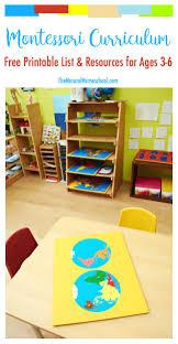 printable montessori curriculum free montessori curriculum list resources printable the