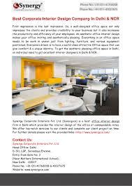 best corporate interior design company in delhi