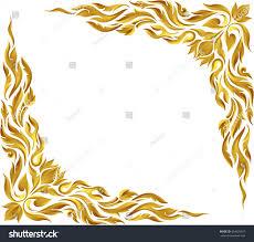 corner pattern png corner gold vintage baroque frame scroll stock vector 454629457