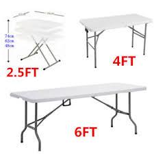 6 ft portable folding table 2 5ft 4ft 6ft portable folding trestle table heavy duty garden
