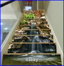 3d falls stones 46 stair risers decoration photo mural vinyl decal