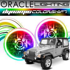 jeep angry headlights install of nightsun4x4 75w led headlights jeep lj tj jeep
