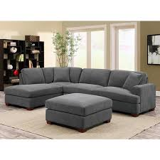 Grey Fabric Chesterfield Sofa by Kellen 3 Piece Grey Fabric Sectional Sofa With 2 Accent Pillows