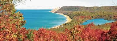 Michigan Fall Color Map by Sleeping Bear Dunes In Fall Traverse City Mi