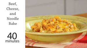 beef cheese and noodle bake recipe myrecipes