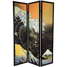 room dividers screens amazon com oriental furniture 6 ft tall japanese wave shoji