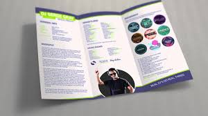 Dj Resume Promodj Dj Press Kit Brochure Template Dj Resume Youtube