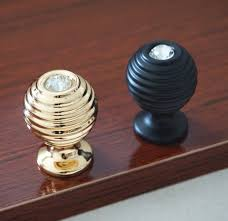 drawer pulls and knobs zinc alloy crown pull cabinets pulls crystal knobs black gold drawer knobs glass dresser knobs handles kitchen cabinet pulls handles knobs