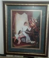 Buy HOME INTERIORS PICTURE LADY AND CHILD AT PIANO DISCONTINUED - Home interior frames
