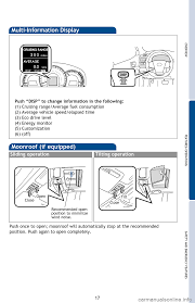 toyota camry hybrid 2013 xv50 9 g quick reference guide
