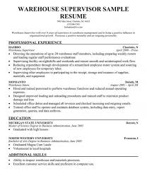 Good Resume Experience Examples by Warehouse Resume Skills Examples U2013 Resume Examples