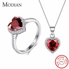 red crystal necklace set images Buy 100 fashion accessories jewelry watch sunglasses store jpg