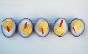 deviled eggs serving dish wine blue cheese deviled eggs recipe and duck fatlove