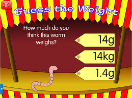 guess the weight a year 3 measures and units worksheet