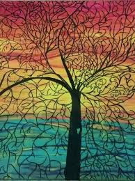 canvas painting ideas easy tree with ornate detail easy canvas
