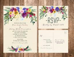 bohemian wedding invitations bohemian flowers wedding invitation set format a7 invitation a2