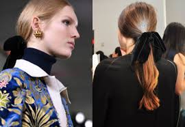 ribbon ponytail fall 2017 ponytail hair velvet ribbon by burch hairdrome