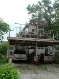 Attached Carport Designs by Rustic White Wooden Carport 2 Storey Decks Design Functional