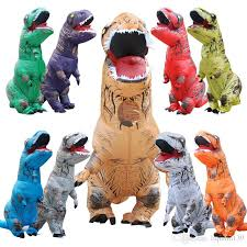 Inflatable Halloween Costumes Giant Inflatable Rex Dinosaur Costume Jurassic Park Blowup