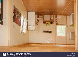 upside down house floor plans kitchen inside upside down house in jastrzębia góra poland stock