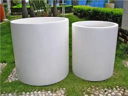 white modern planters 25 great ideas for modern outdoor design