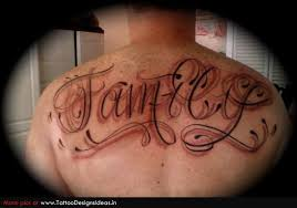 tattoo of lettering on chest real photo pictures images and