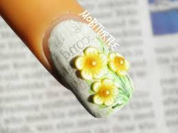 newspaper nail art using water 3d mother nature flowery touch