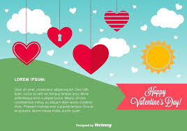 happy valentine u0027s day card template download free vector art