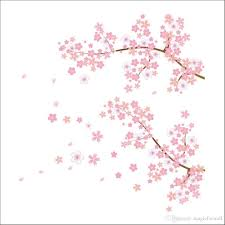 pink flowers tree branches wall stickers new plum blossom living