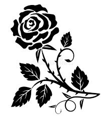 decorative rose thorn stock vector image of tattoo decorative