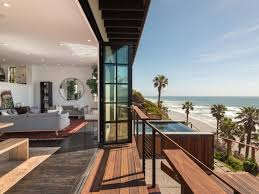 floor to ceiling glass doors 8m encinitas home boasts private stairs to beach floor to