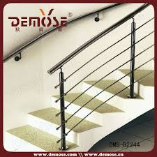 design stainless steel stair railing post pole baluster view
