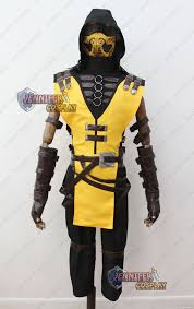 Halloween Costumes Mortal Kombat Scorpion Mortal Kombat Costume Game Mortal Kombat