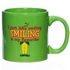 funky coffee mugs online smiling is my favorite 20 oz ceramic coffee mug elf the movie
