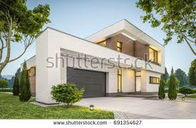 House With Garage We Cut House Half We Will Stock Illustration 294309923 Shutterstock