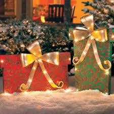 outdoor lighted gift boxes projects ideas outdoor lighted christmas presents present