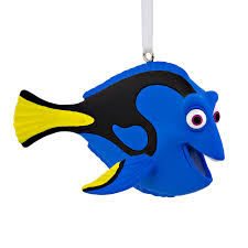 shop hallmark peacock blue dory ornament at lowes com