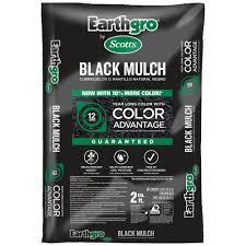 earthgro 2 cu ft black mulch 88552180 the home depot