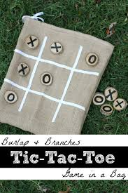 burlap and branches tic tac toe game in a bag tic tac toe game