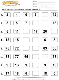 number sense worksheets skip counting 1 turtle diary
