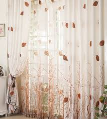 Curtain Drapes Amazon Com Elleweideco Modern Tree Branch Window Curtains Drape