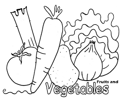 coloring pages fresh fruit and vegetables free printable enjoy