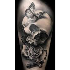 butterfly on skull design
