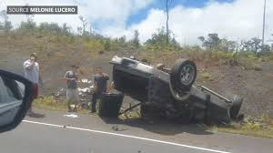 crash closes saddle road at 13 mile marker